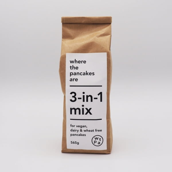bag of 3-in-1 flour mix - for vegan, dairy-free & wheat-free pancakes