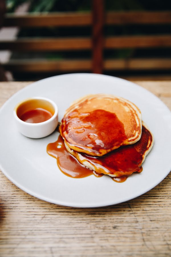 Sea Salted Caramel - poured over American style pancakes
