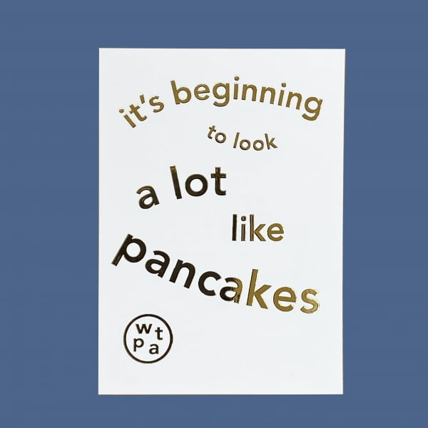 It's Beginning to Look a Lot Like Pancakes - Christmas Gift Voucher card