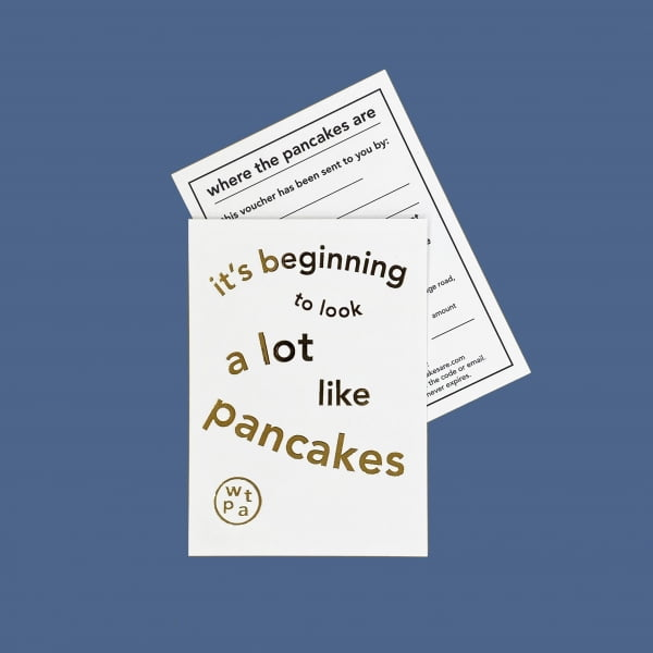 It's beginning to look a lot like pancakes - Christmas Group Gift Voucher card and inner card