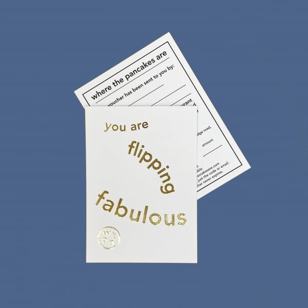 You Are Flipping Fabulous Gift Voucher card