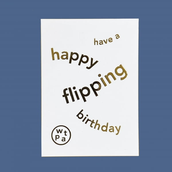 Have a Happy Flipping Birthday Gift Voucher card