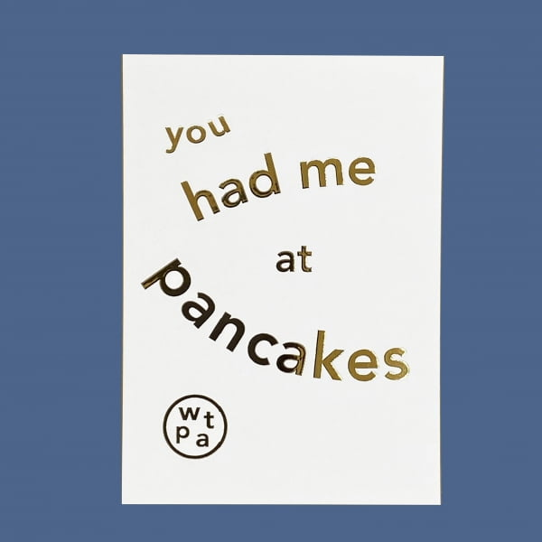 You Had Me at Pancakes Gift Voucher card