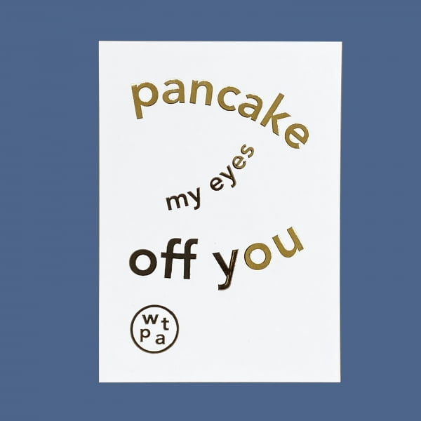 Pancake My Eyes Off You Gift Voucher card